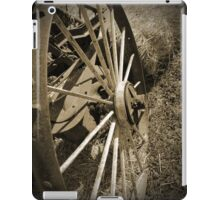 Antique Wagon Wheel Sepia iPad Case/Skin