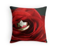 Love is Blooming Throw Pillow