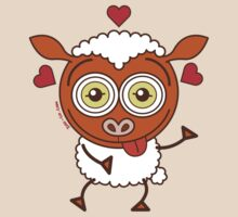 Crazy sheep feeling lucky in love by Zoo-co