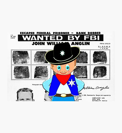 Toon Boy 12c Sheriff, Ready for any Emergency - all products Photographic Print