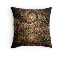 Mayan Bird Deity Throw Pillow