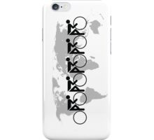 The Bicycle Race 3 Black iPhone Case/Skin