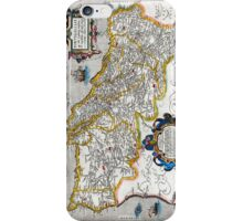1560 Map of Portugal by Ortelius iPhone Case/Skin