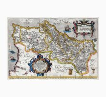 1560 Map of Portugal by Ortelius Kids Clothes