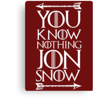 Knows Nothing Canvas Print