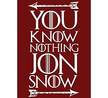 Knows Nothing Photographic Print