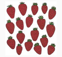 Strawberry Fruit Design One Piece - Short Sleeve