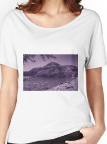 Glacier National Park Lake and Mountains2 Women's Relaxed Fit T-Shirt