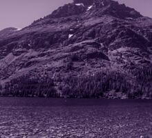 Glacier National Park Lake and Mountains2 Sticker