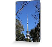 Telstra Tower, Canberra. Greeting Card