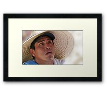 Double Hatted Framed Print