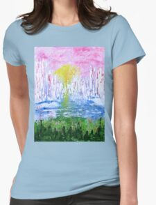 Abstract ships Womens Fitted T-Shirt