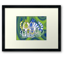 Purrrrfect mix Framed Print