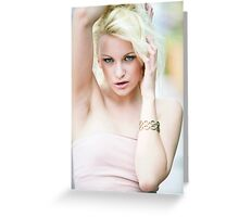 blonde hot beauty Greeting Card