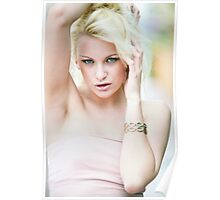 blonde hot beauty Poster
