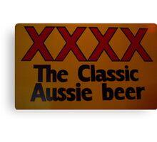 Aussie Beer Canvas Print
