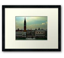 Plaza San Marcos Framed Print