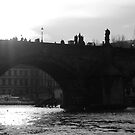 Charles Bridge in Sunlight by bedlambabe