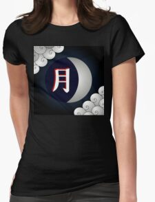 Moon Kanji Tsuki Womens Fitted T-Shirt