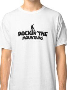Rockin' the Mountains (Snowboarding) Classic T-Shirt