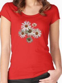 Circle of White Daisies Women's Fitted Scoop T-Shirt