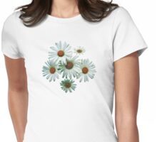 Circle of White Daisies Womens Fitted T-Shirt