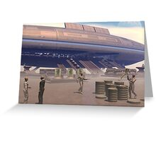 Loading Cargo Greeting Card