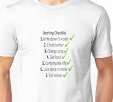 Studying at its best Unisex T-Shirt