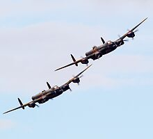 AVRO Lancaster pair by captureasecond