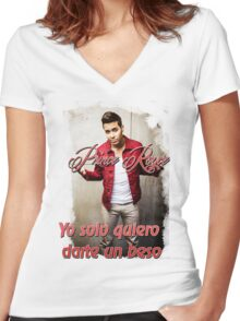 Prince Royce 1 - Darte un Beso  Women's Fitted V-Neck T-Shirt