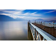 Lake Wörthersee jetty Photographic Print