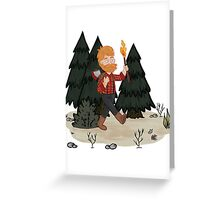 Woodie in the Woods Greeting Card