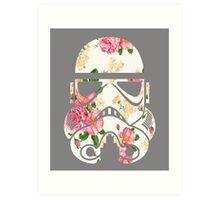 Vintage Floral Stormtrooper Design Art Print
