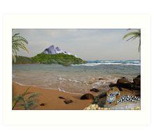 970-Jaguar Beach Art Print