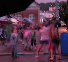 dancin' in the rain/a view from 'neath an umbrella by WonderlandGlass