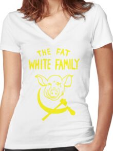 Fat White Family Women's Fitted V-Neck T-Shirt