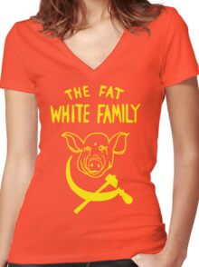 Fat White Family Women's Fitted V-Neck T-Shirt