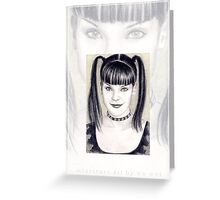 Pauley Perrette miniature Greeting Card