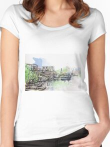 sketching leiyuemun Women's Fitted Scoop T-Shirt