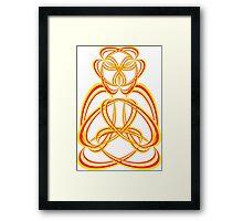 Buda yellow/orange Framed Print