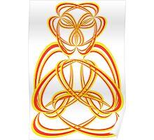 Buda yellow/orange Poster