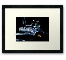 Lightning XR728 in the shadows Framed Print