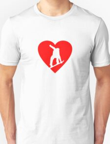 I love Snowboarding - A Heart for Snowboarders Unisex T-Shirt