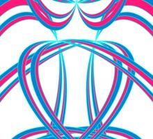 Buda blue/rose Sticker