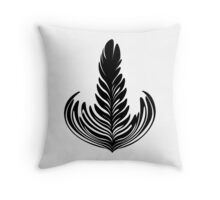 Rosetta black Throw Pillow