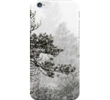 23.1.2015: Pine Trees in Blizzard V iPhone Case/Skin