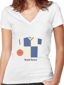 Bristol Rovers Women's Fitted V-Neck T-Shirt