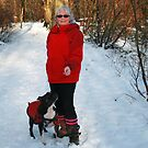 Staffies are friends for life - love my dog  by Merice Ewart Marshall - LFA
