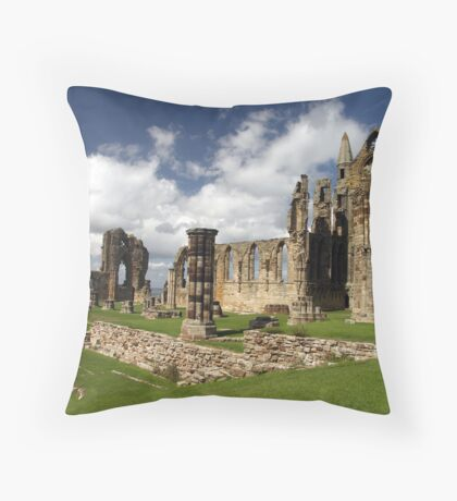Whitby Abbey, Whitby, Yorkshire Throw Pillow