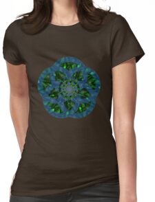 Fractal flower Womens Fitted T-Shirt